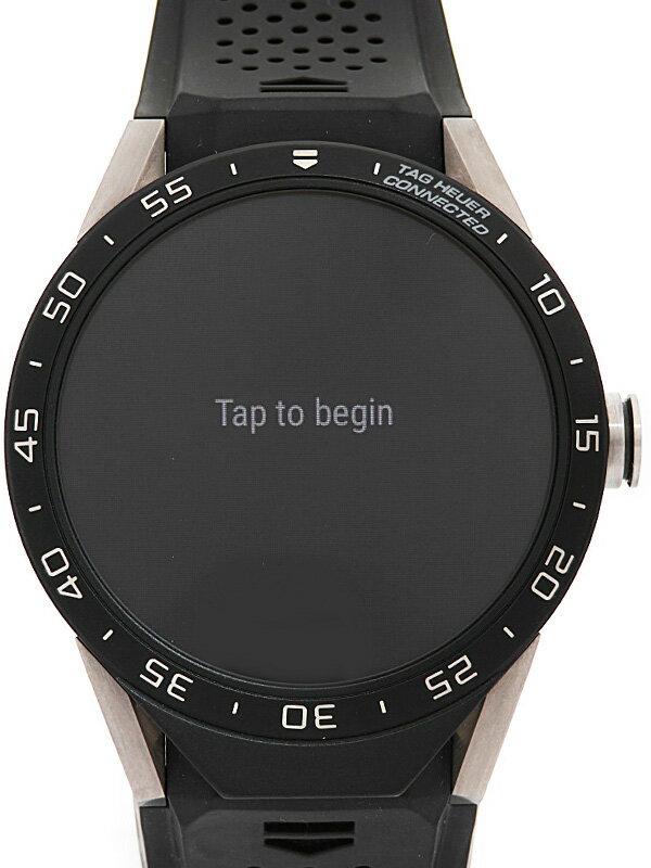 【TAG Heuer】タグホイヤー『コネクテッドウォッチ』SAR8A80.FT6057 メンズ スマートウォッチ 3ヶ月保証【中古】