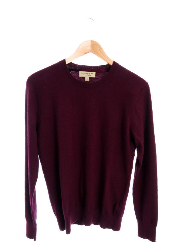 【BURBERRY】【トップス】バーバリー『長袖カシミヤセーター sizeXS』メンズ 1週間保証【中古】