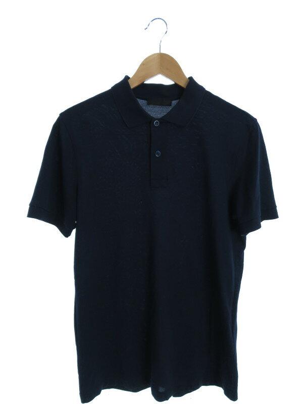 【PRADA】【トップス】【ルーマニア製】プラダ『半袖ポロシャツ sizeS』メンズ 1週間保証【中古】