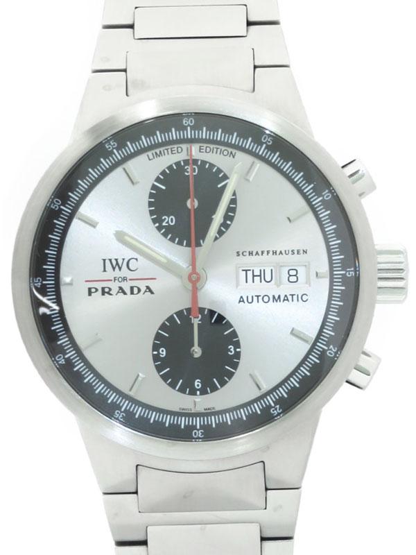 【IWC】【for PRADA】インターナショナルウォッチカンパニー『GST クロノグラフ プラダ』IW370802 メンズ 自動巻き 3ヶ月保証【中古】