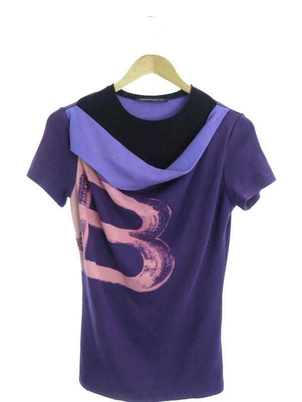 【BALENCIAGA】【ポルトガル製】【トップス】バレンシアガ『重ね着風半袖Tシャツ size36』レディース カットソー 1週間保証【中古】