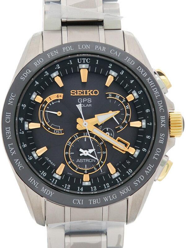 【SEIKO】【美品】セイコー『アストロン』SBXB073 8X53-0AB0 6N****番 メンズ ソーラーGPS 3ヶ月保証【中古】