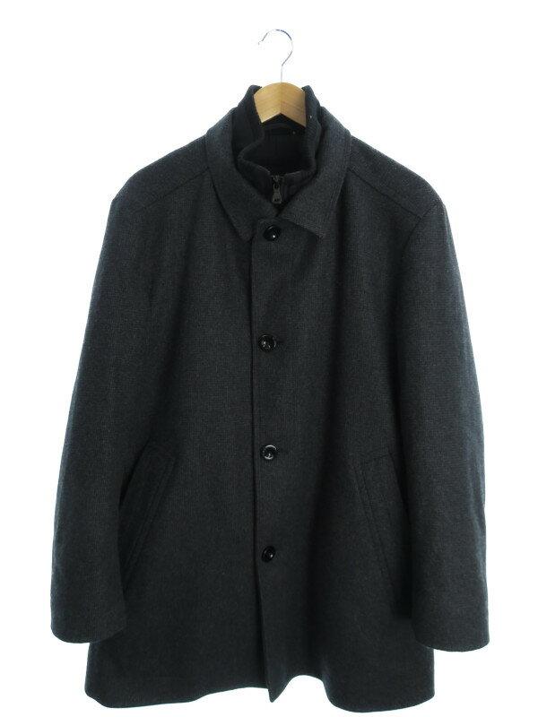 【HUGO BOSS】【アウター】ヒューゴボス『ハーフコート size50』メンズ ジャケット 1週間保証【中古】
