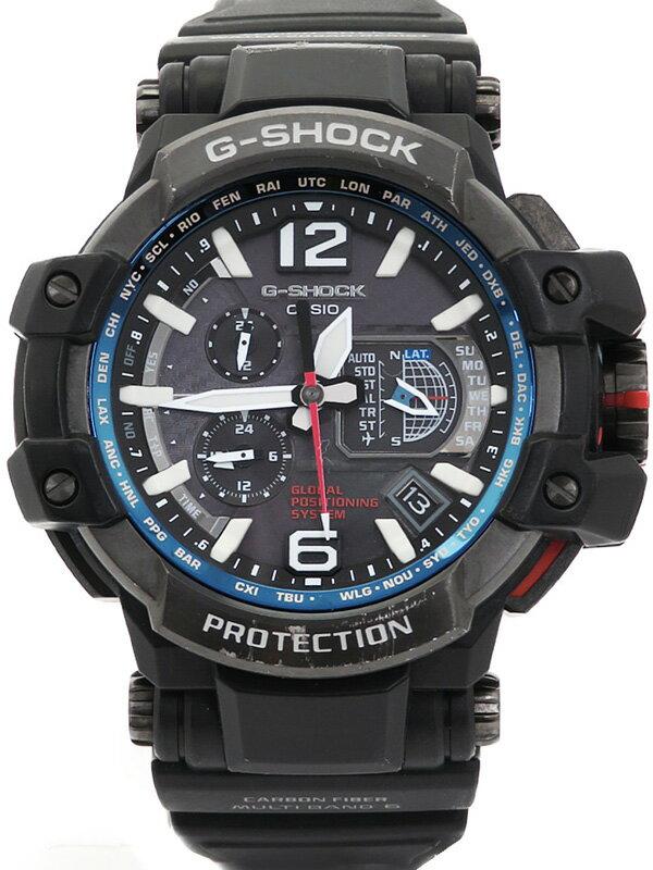 【CASIO】【G-SHOCK】【GPSハイブリッド電波ソーラー】カシオ『Gショック スカイコックピット』GPW-1000-1AJF メンズ ソーラー電波GPS 1週間保証【中古】