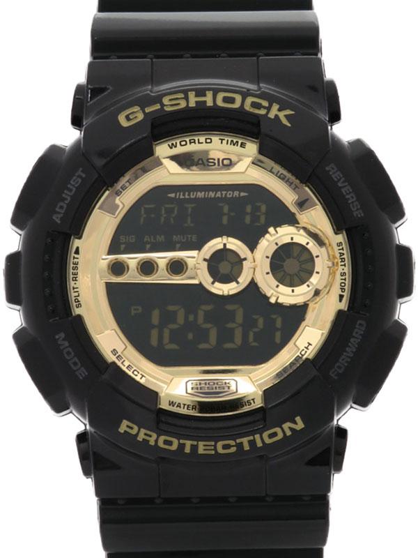 【CASIO】【G-SHOCK】【海外モデル】カシオ『Gショック ブラック×ゴールドシリーズ』GD-100GB-1DR メンズ クォーツ 1週間保証【中古】