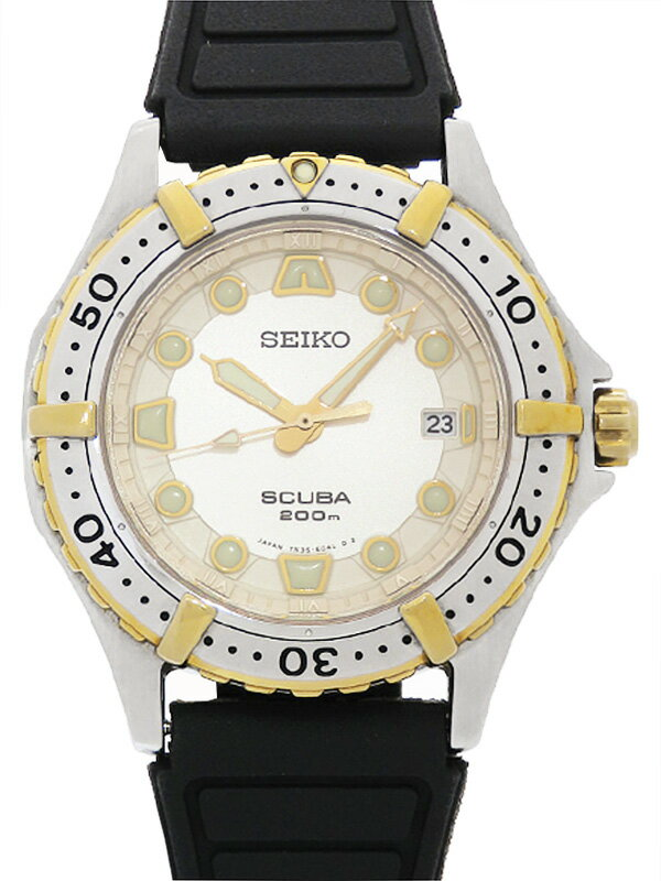 【SEIKO】【電池交換済】セイコー『スキューバ』7N35-6060 32****番 メンズ クォーツ 1週間保証【中古】