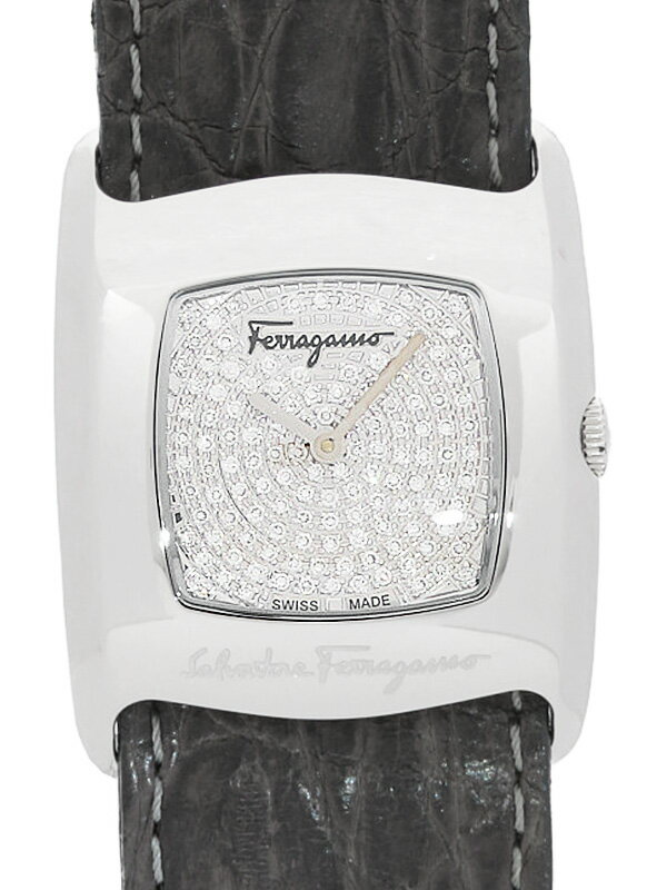 【Salvatore Ferragamo】フェラガモ『ヴァラ パヴェダイヤ』F51SBQ9902FS007 レディース クォーツ 3ヶ月保証【中古】