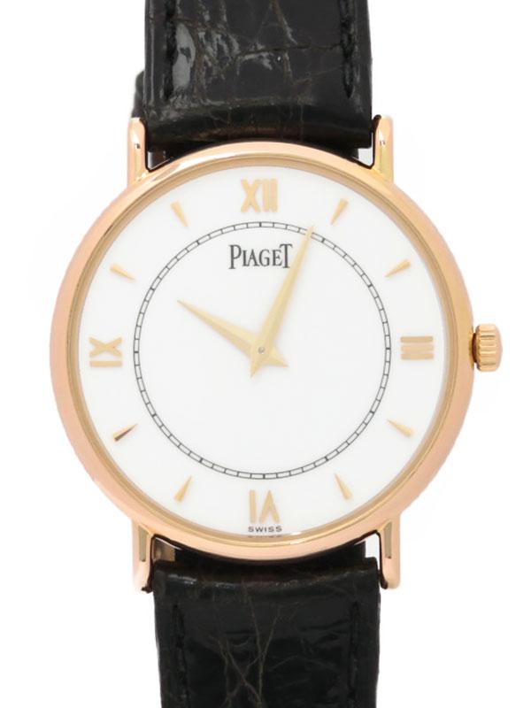 【PIAGET】【電池交換済】ピアジェ『120周年記念ラウンドウォッチ』128025N メンズ クォーツ 3ヶ月保証【中古】