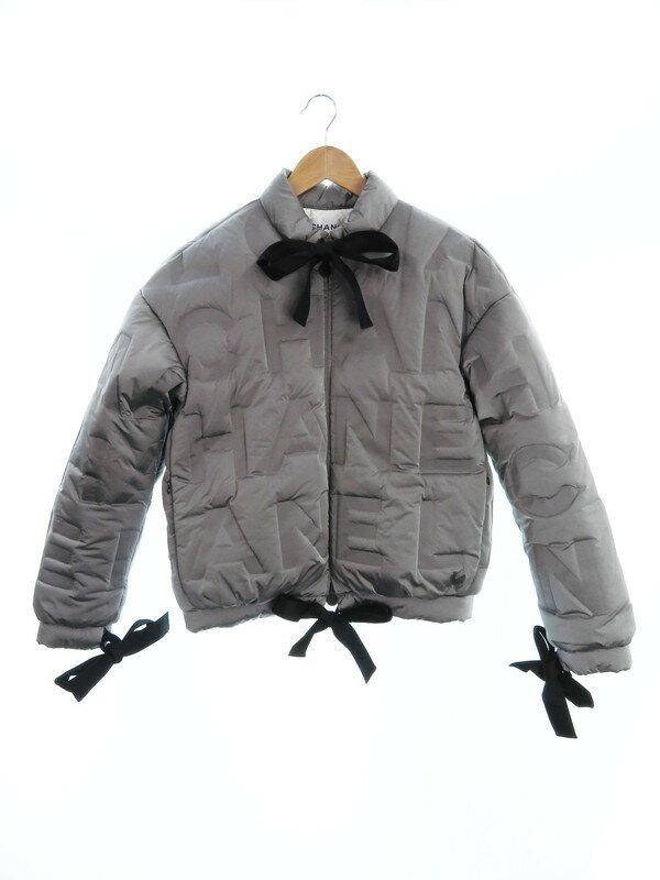 【CHANEL】【アウター】【イタリア製】シャネル『リボン付中綿ジャケット size38』P57415V43355 レディース 1週間保証【中古】