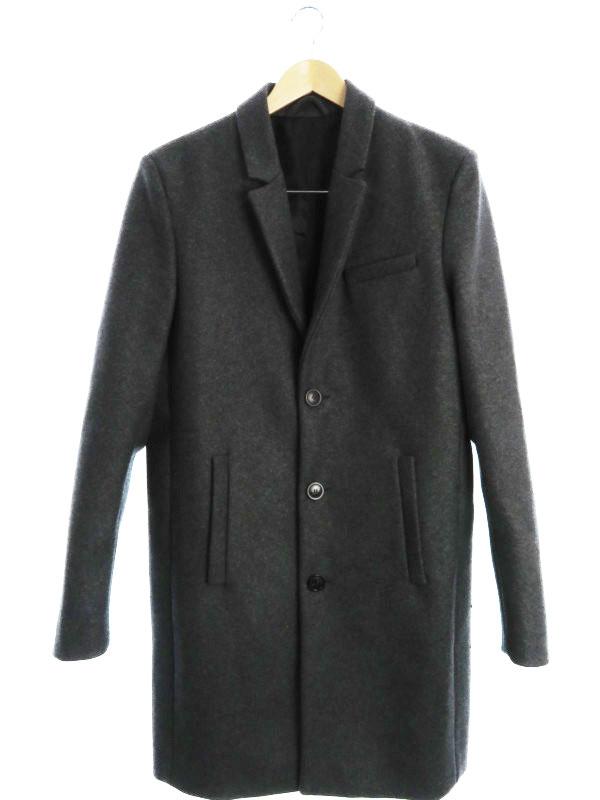 【DIESEL】【刺繍】【DIESEL BLACK GOLD】【ブルガリア製】ディーゼル『ウール混コート size48』メンズ 1週間保証【中古】