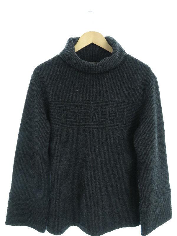 【FENDI】【日本製】【トップス】フェンディ『タートルネック長袖ニット size42』メンズ セーター 1週間保証【中古】