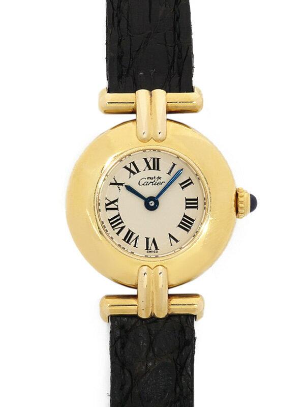 【Cartier】【電池交換済】カルティエ『マストコリゼ ヴェルメイユ』W1000653 レディース クォーツ 1ヶ月保証【中古】
