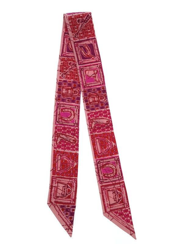 【HERMES】【フランス製】エルメス『ツイリー』レディース スカーフ 1週間保証【中古】