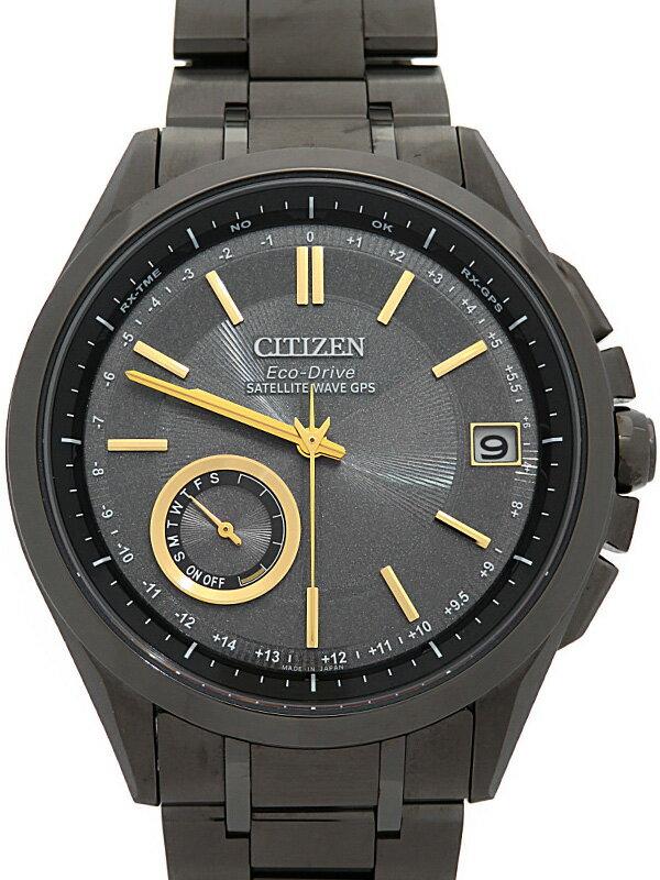 【CITIZEN】【'18年購入】シチズン『アテッサ エコドライブ』CC3015-57X メンズ ソーラー電波GPS 1ヶ月保証【中古】
