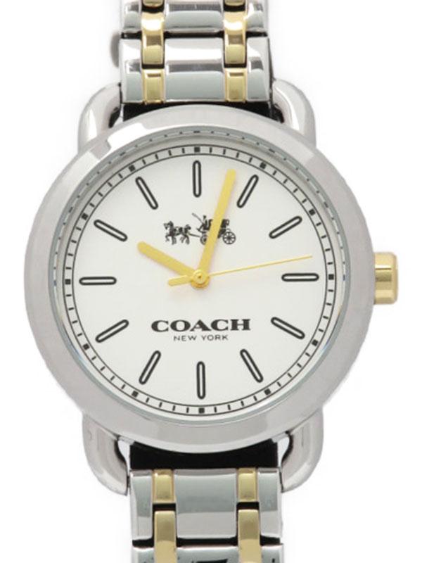 【COACH】【電池交換済】コーチ『ラウンドウォッチ』レディース クォーツ 1週間保証【中古】