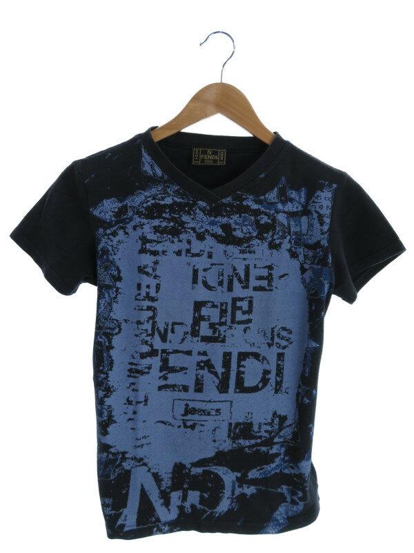 【FENDI】【イタリア製】【トップス】フェンディ『半袖カットソー size44』レディース Tシャツ 1週間保証【中古】
