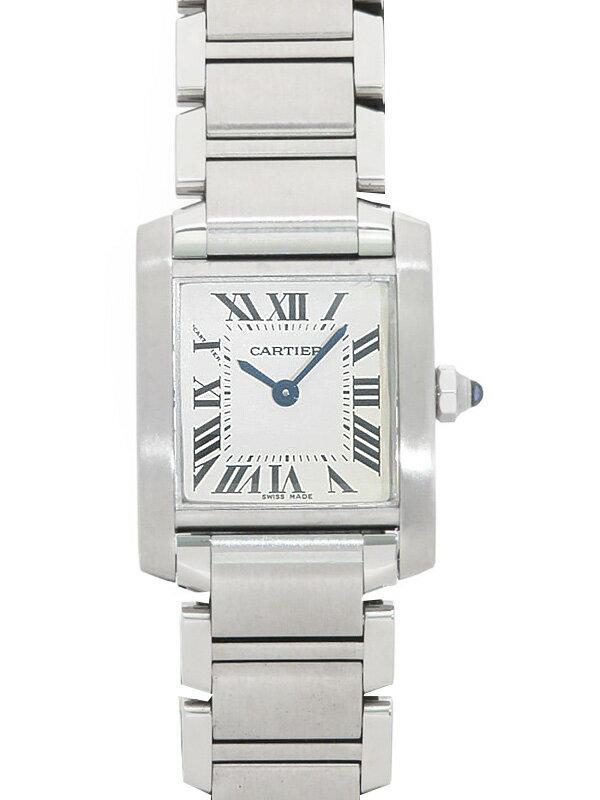 【Cartier】【OH・仕上済】カルティエ『タンクフランセーズSM』W51008Q3 レディース クォーツ 3ヶ月保証【中古】