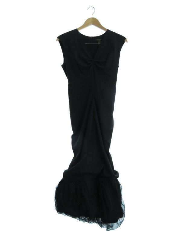 【Louis Vuitton】【フランス製】ルイヴィトン『パーティードレス size36』レディース ロングドレス 1週間保証【中古】