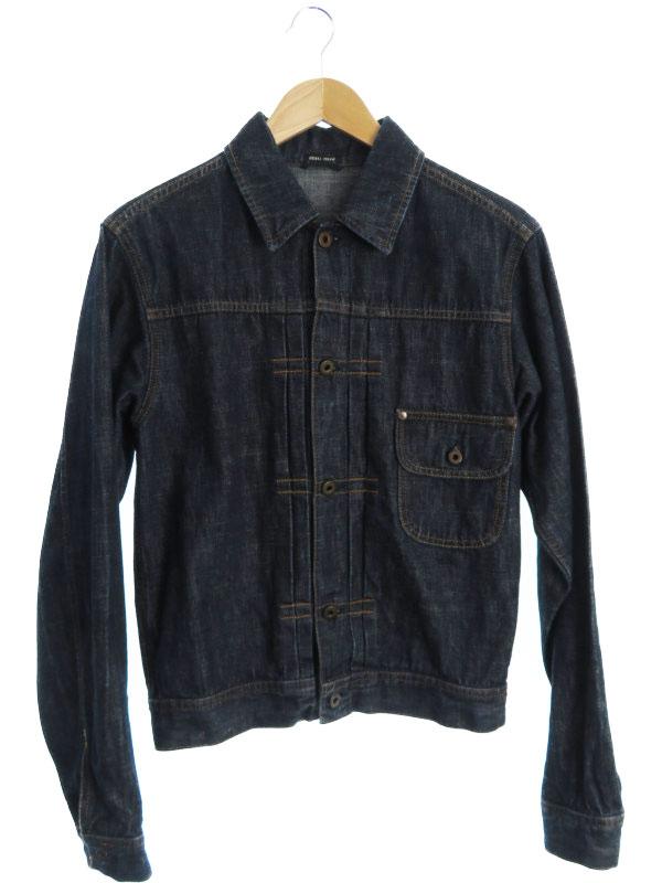 【miumiu】【イタリア製】【アウター】ミュウミュウ『デニムジャケット sizeS』メンズ 1週間保証【中古】