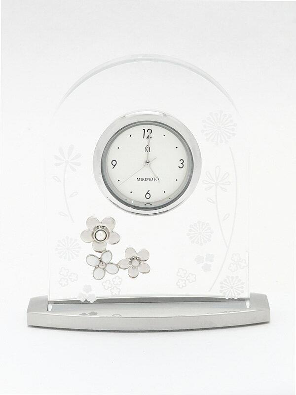 【MIKIMOTO】【電池交換済】ミキモト『ブランシュール』NNS561E 置時計 1週間保証【中古】