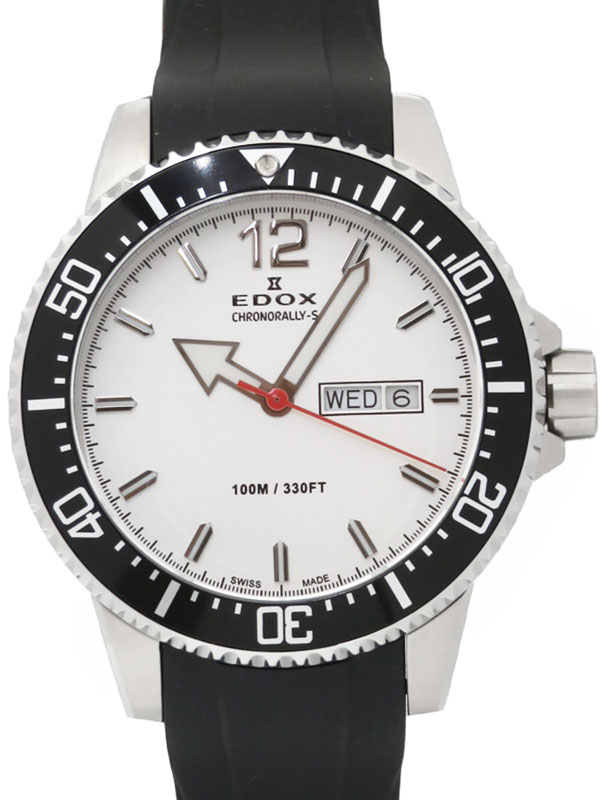 【EDOX】エドックス『クロノラリーS』84300 3CA ABN メンズ クオーツ 1週間保証【中古】