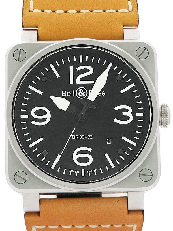 【Bell&Ross】ベルアンドロス『アビエーション』BR03-92 メンズ 自動巻き 3ヶ月保証【中古】