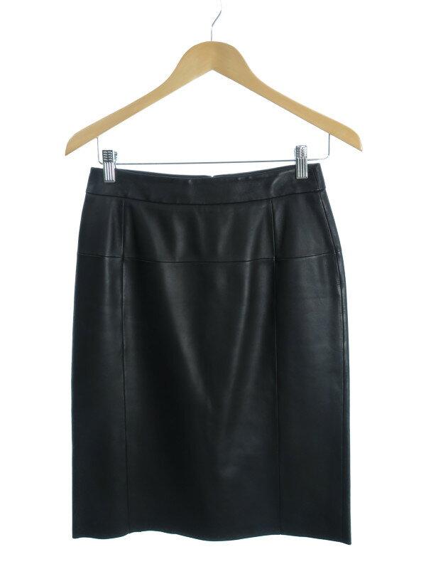 【LOEWE】【スペイン製】【ボトムス】ロエベ『レザータイトスカート size36』レディース 1週間保証【中古】