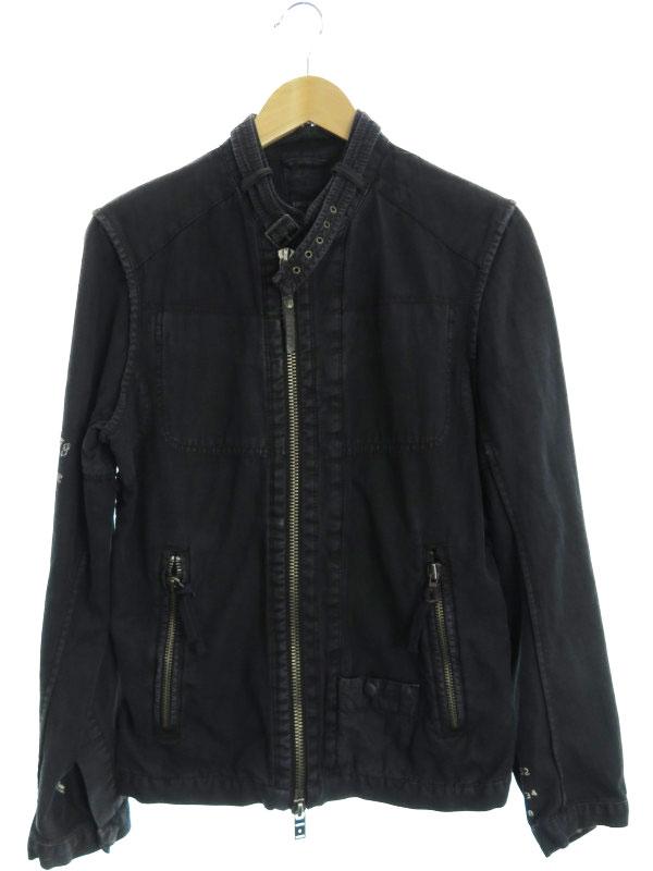 【DIESEL】【アウター】ディーゼル『リネン混 ジップアップブルゾン sizeM』メンズ ジャケット 1週間保証【中古】