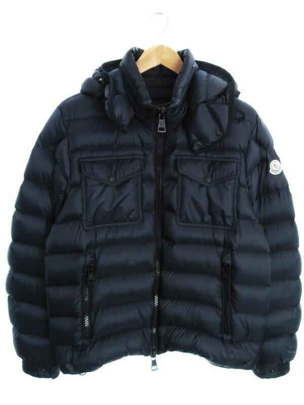 【MONCLER】【アウター】【ルーマニア製】モンクレール『EDWARD ダウンジャケット size2』メンズ ブルゾン 1週間保証【中古】
