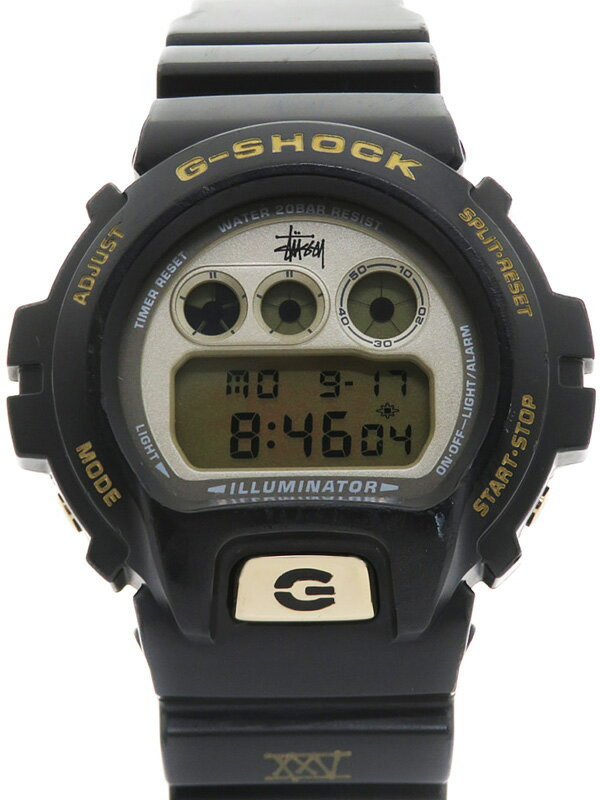 【CASIO】【G-SHOCK】【STUSSY25周年記念】【電池交換済】カシオ『Gショック ステューシーコラボモデル』DW-6900STS-9 メンズ クォーツ 1週間保証【中古】
