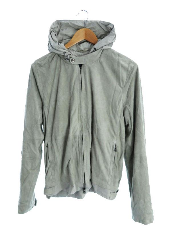 【HERNO】【イタリア製】【アウター】ヘルノ『スウェードパーカージャケット size50』メンズ 1週間保証【中古】