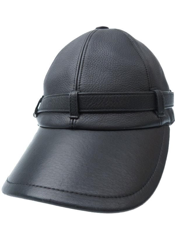 【HERMES】【鹿革】【フランス製】エルメス『レザーキャップ sizeSM』ユニセックス 帽子 1週間保証【中古】