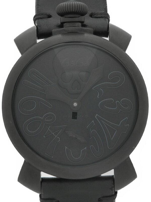 【GaGa MILANO】【裏スケ】ガガミラノ『マヌアーレ 48mm アートコレクション』5012.ART.01S メンズ 手巻き 1週間保証【中古】