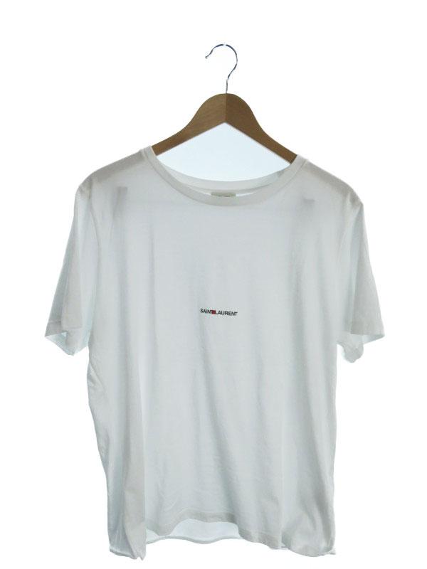 【SAINT LAURENT】【イタリア製】【トップス】サンローラン『コットン半袖Tシャツ sizeXL』46572YB2DQ9000 メンズ カットソー 1週間保証【中古】