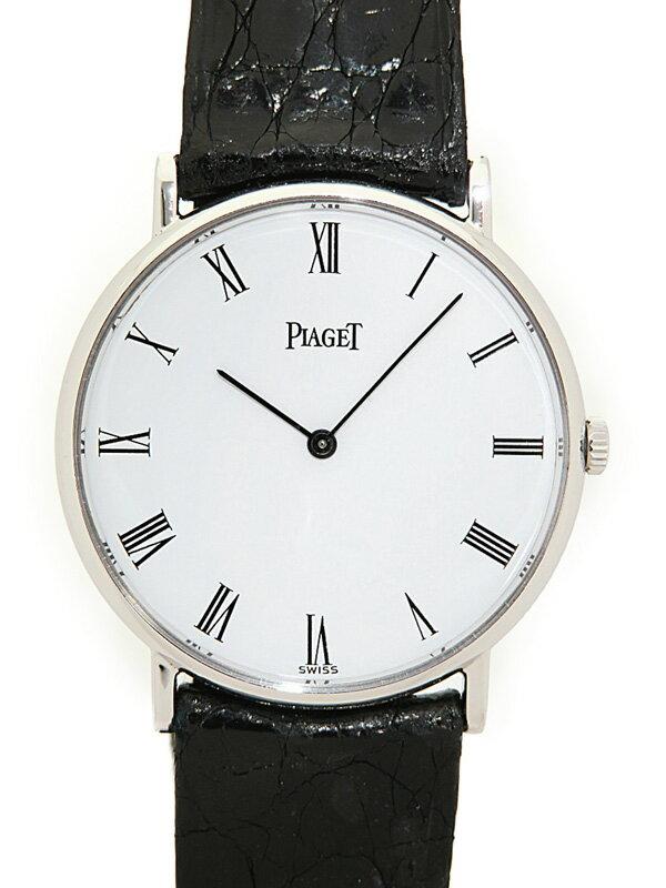 【PIAGET】【WGケース】ピアジェ『ラウンドウォッチ』9065N メンズ 手巻き 3ヶ月保証【中古】