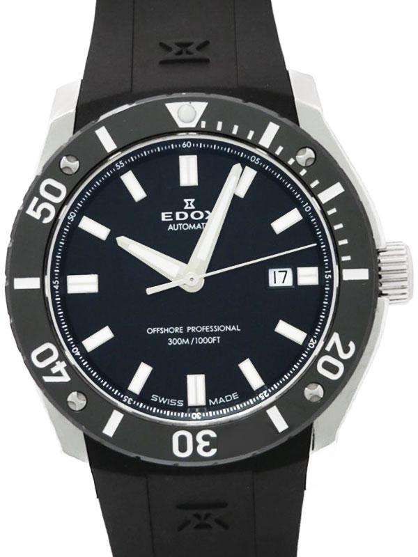 【EDOX】【'17年購入】エドックス『クロノオフショア1 プロフェッショナル』80088-3-NIN メンズ 自動巻き 1ヶ月保証【中古】