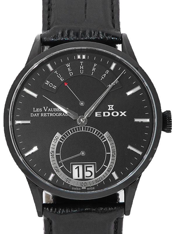【EDOX】【電池交換済】エドックス『デイ レトログレード』34001 357N NIN メンズ クォーツ 1週間保証【中古】