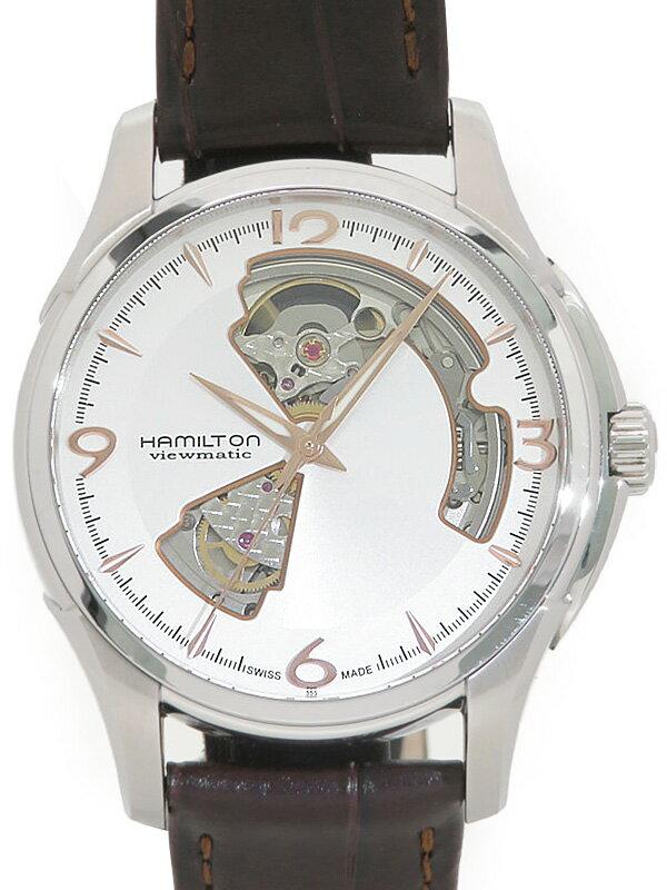 【HAMILTON】【裏スケ】ハミルトン『ジャズマスター ビューマチックオープンハート』H32565555 メンズ 自動巻き 1週間保証【中古】