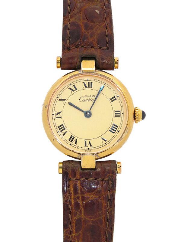 【Cartier】【電池交換済】カルティエ『マストヴァンドーム ヴェルメイユ』レディース クォーツ 1ヶ月保証【中古】