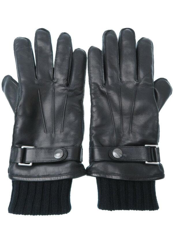 【COACH】【3 IN 1 レザー グローブ】コーチ『レザーグローブ sizeM』F85859 メンズ 手袋 1週間保証【中古】