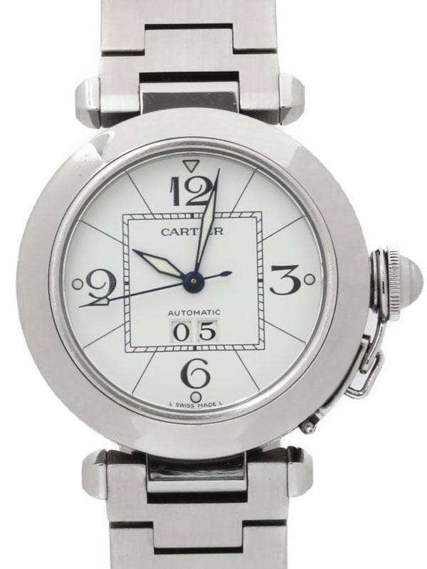 【Cartier】カルティエ『パシャC ビックデイト』W31055M7 ボーイズ 自動巻き 3ヶ月保証【中古】