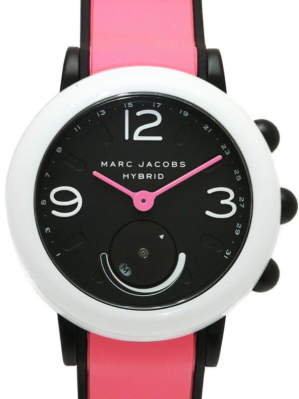 【MARC JACOBS】【スマートリンク】【'18年購入】マークジェイコブス『ライリー ハイブリッド44』M8000615 レディース クォーツ 1週間保証【中古】
