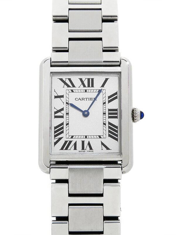 【Cartier】【'18年購入】カルティエ『タンクソロLM』CRW5200014 メンズ クォーツ 3ヶ月保証【中古】