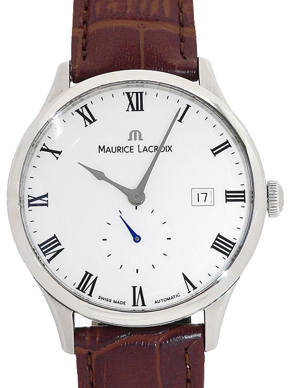 【MAURICE LACROIX】【裏スケ】【OH済】モーリスラクロア『』MP6907-SS001-112 メンズ 自動巻き 1ヶ月保証【中古】