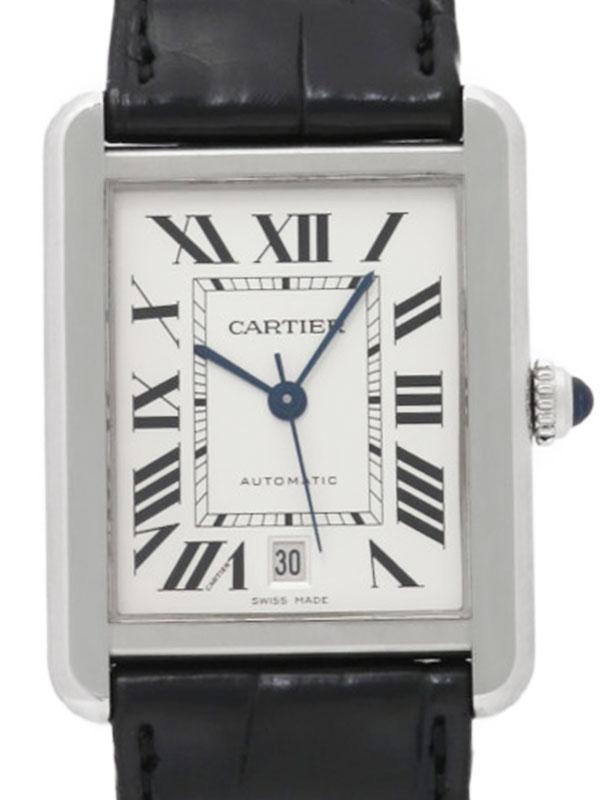 【CARTIER】カルティエ『タンクソロ XL』W5200027 メンズ 自動巻き 3ヶ月保証【中古】