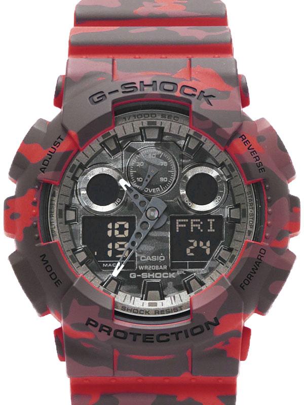 【CASIO】【G-SHOCK】【美品】カシオ『Gショック カモフラージュシリーズ』GA-100CM-4A メンズ クォーツ 1週間保証【中古】