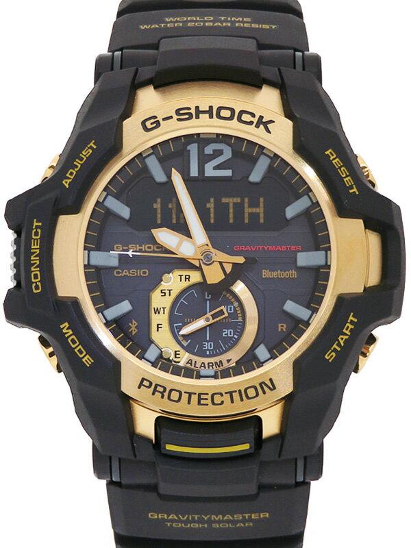 【CASIO】【G-SHOCK】【モバイルリンク】【美品】カシオ『Gショック ブラック&ゴールドシリーズ』GR-B100GB-1AJF メンズ ソーラークォーツ 1週間保証【中古】