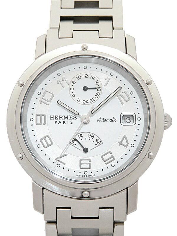 【HERMES】エルメス『クリッパー GMT パワーリザーブ』CL2.810 メンズ 自動巻き 3ヶ月保証【中古】