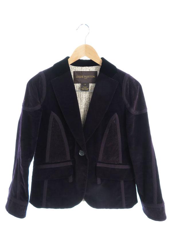 【Louis Vuitton】【フランス製】【上下セット】ルイヴィトン『コーデュロイ・ベロア スカートスーツ size36』レディース セットアップ 1週間保証【中古】
