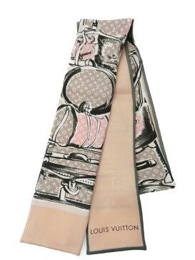 【Louis Vuitton】【イタリア製】ルイヴィトン『バンドー・トランクス・ローズプードル』M73965 レディース スカーフ 1週間保証【中古】b02f/h02A
